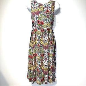 TopShop Floral Sleeveless Midi Dress Size US 4